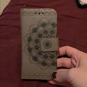 iPhone 6/7/8 Mandala wallet case/detachable